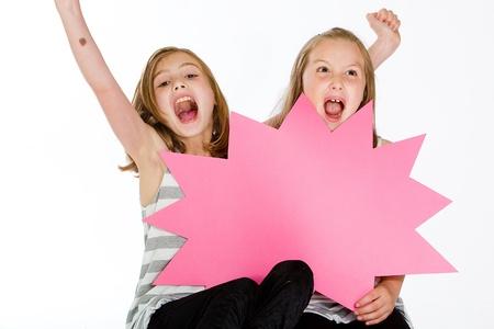 Kinderen met een leeg teken