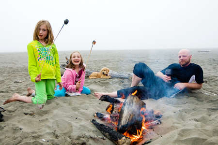 Camp Fire at the beach