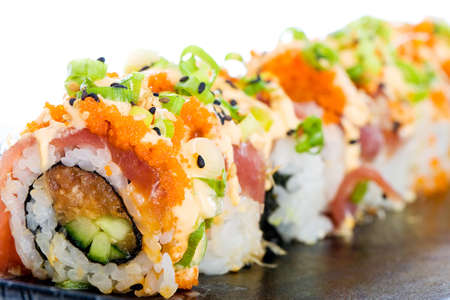 ahi: Sushi Roll Stock Photo
