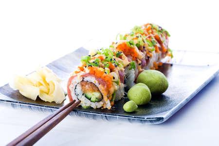 Sushi Roll Stockfoto