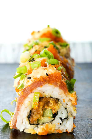 egg roll: Sushi Roll Stock Photo