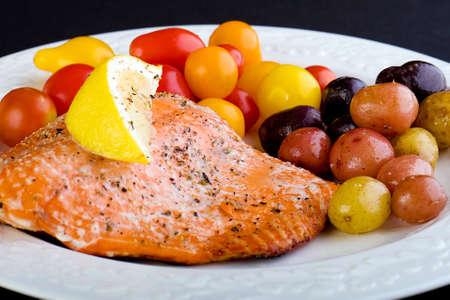 Fresh Salmon Dinner