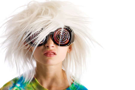 messy hair: Funny Kid