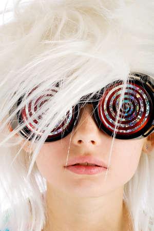 hypnotist: crazy kid with x-ray glasses on