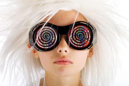 loco: kid loco con gafas de rayos x en