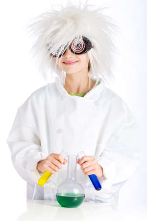 crazed: Mad Scientist performing experiment