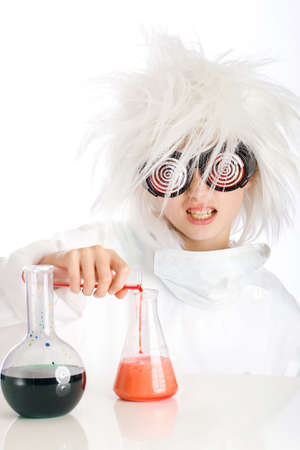 crazy hair: mad scientist