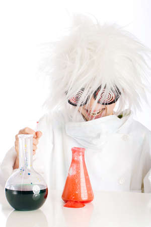crazed: mad scientist