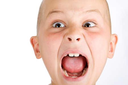 venting: wild boy screaming loud