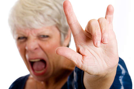 Rock and Roll Grandma Stock Photo - 10698899