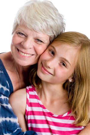 grand child: happy family: Grandma and Grand child Stock Photo