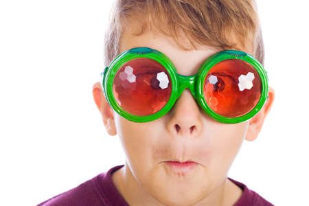Funny young in buy eyed glasses