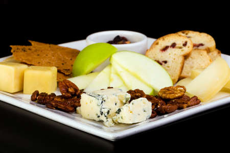 cheese platter: cheese and crackers