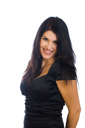 Beautiful middle aged woman with a radiant smile
