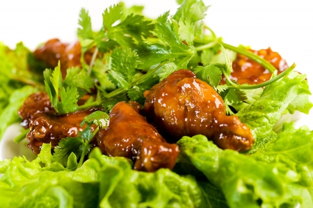 Barbecue Chicken Wings Stockfoto