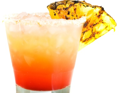 grenadine: tropical drink with grilled pineapple garnish Stock Photo