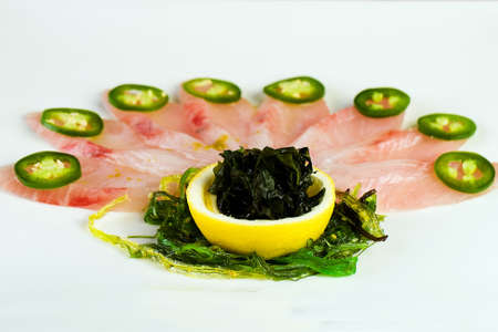 매운 jalapeno 고추와 생선은 공작 깃털처럼 삼진. 스톡 콘텐츠