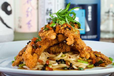 아시아 레스토랑에서 소프트 벗겨진 게 저녁 식사 스톡 콘텐츠
