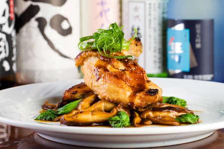 Fresh chicken dinner at a gourmet restaurant