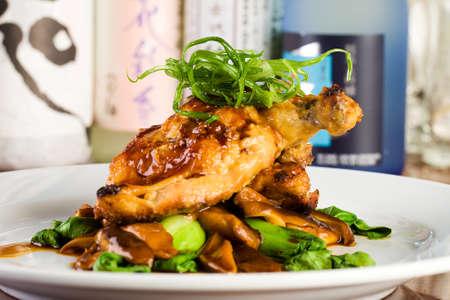 Verse kip diner in een gastronomisch restaurant