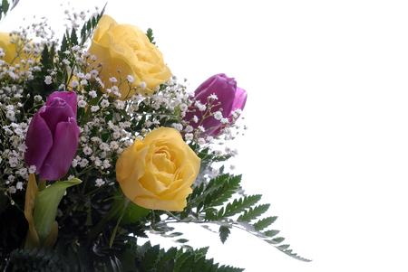 wedding love: bouquet of flower on white area