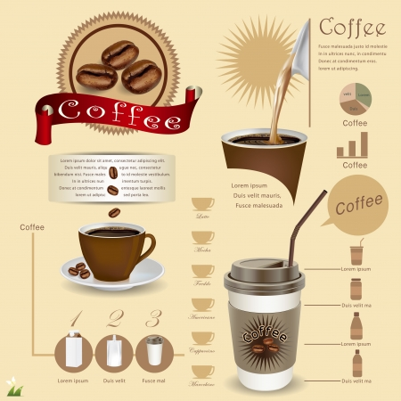 Coffee Infographic Template vector illustration Illustration