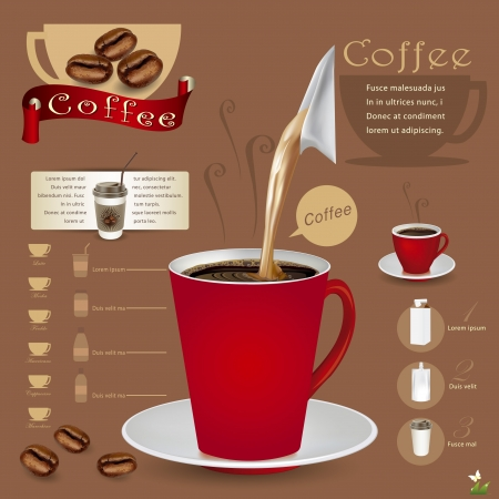 Coffee Infographic VECTOR ILLUSTRATION Vector