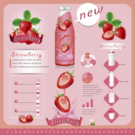 wild strawberry: Strawberries infographic  vector illustration Illustration