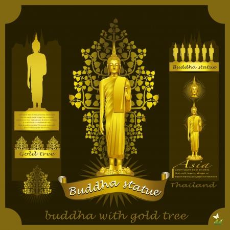 Buddha Statue infographic  Stock Vector - 21446933