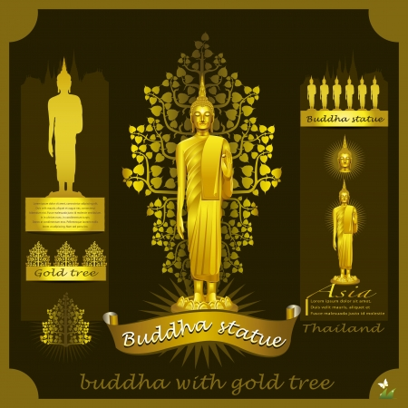 buda: Estatua de Buda infograf�a Vectores