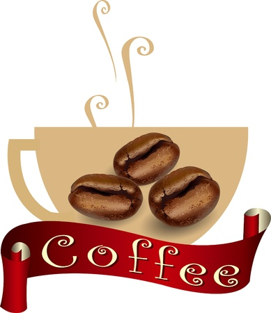 coffee label  coffee bean, coffee design, coffee symbol  Stock Vector - 21446936