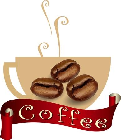 coffee label  coffee bean, coffee design, coffee symbol Stock Vector - 21446936