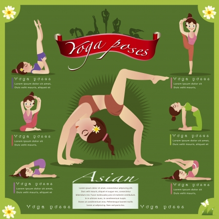 women yoga: Woman in pose practicing yoga vector illustration
