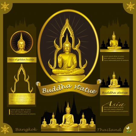 Buddha Statue infographic  Stock Vector - 21446940
