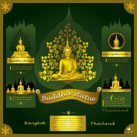 the religion: Buddha Statue infographic