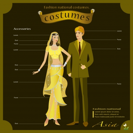Infographic bride and groom