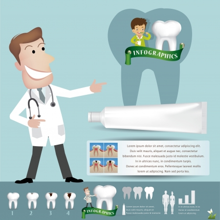 sonrisa: Dientes cuidado infografía ilustración vectorial