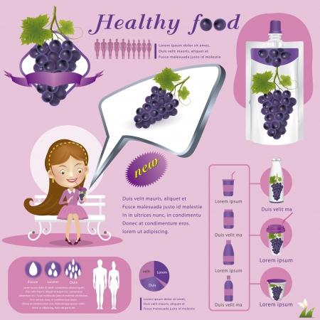 Grape juice Vector