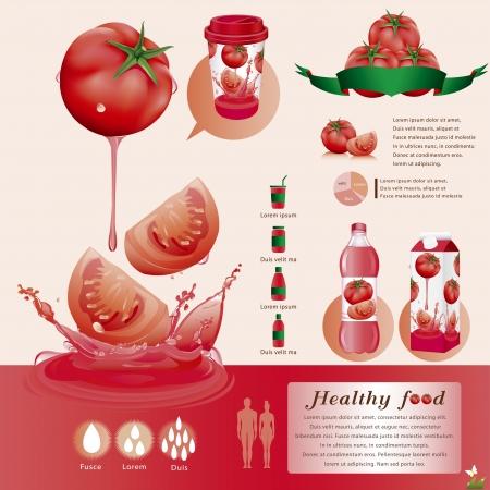 Jugo de tomate Ilustración de vector