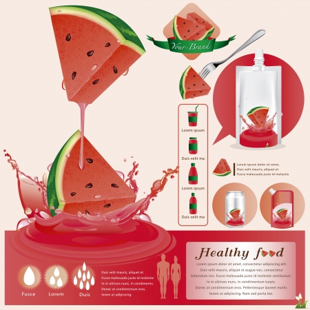 Watermelon juice Stock Vector - 21811319