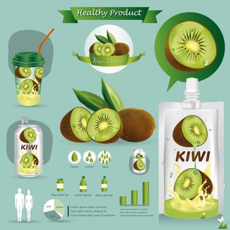 kiwi fruta: Kiwi paquete de frutos