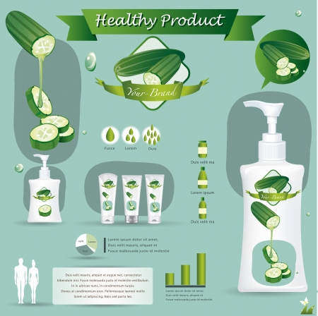 food packaging: Cucumber Illustration