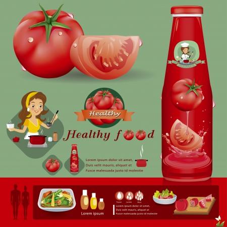 tomato catsup: tomato vector illustration Illustration