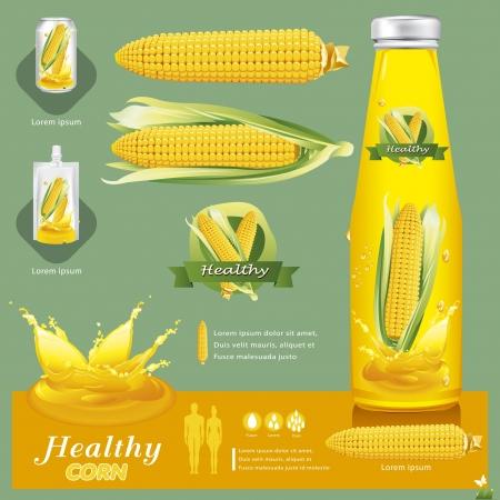 corn yellow: Ilustraci�n ma�z