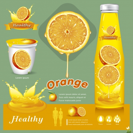 food packaging: Orange juice illustration Illustration