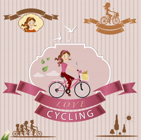 vector illustration of cycling Vector