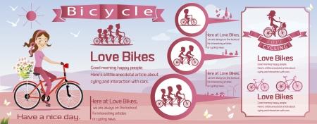 bicicleta retro: infograf�a bicicleta