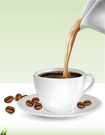 Cup of coffee, vector illustration Stock Vector - 21873991