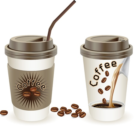 coffee cup vector: Cup of coffee, vector illustration