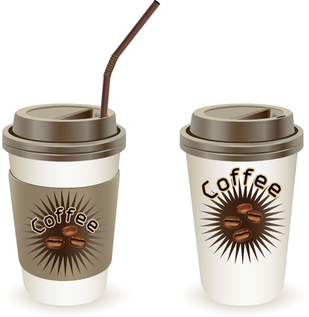 Cup of coffee, vector illustration Stock Vector - 21874002